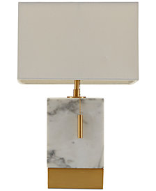 Madison Park Signature Bringham Marble & Antique Brass Table Lamp