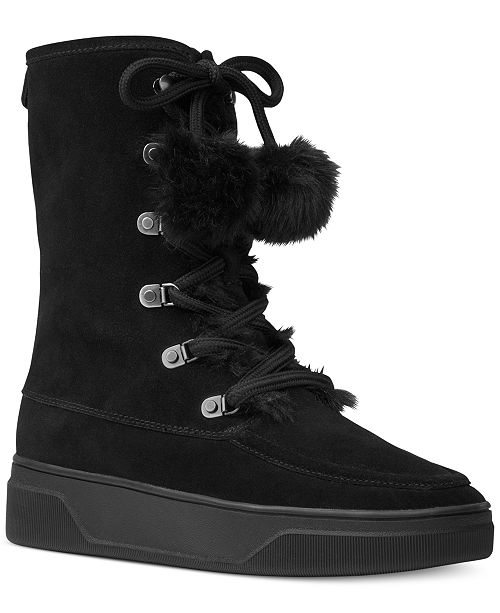Michael Kors Juno Lace-Up Boots