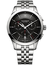 Men's Swiss Chronograph Alliance Stainless Steel Bracelet Watch 44mm 241745