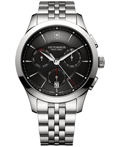 Victorinox Swiss Army Men's Swiss Chronograph Alliance Stainless Steel Bracelet Watch 44mm 241745