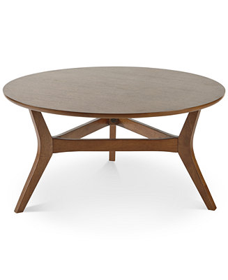 Metro round dining table quick ship furniture macy 39 s for Macys dining table