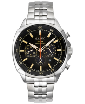 Seiko Men's Solar Chronograph Recraft Stainless Steel Bracel