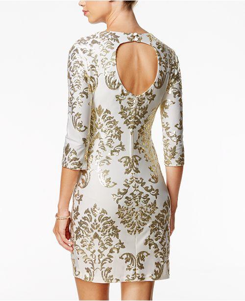 3b4fab58729 B Darlin Juniors  Sequined Cutout Bodycon Dress   Reviews - Dresses ...