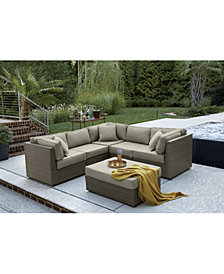 CLOSEOUT! South Harbor Outdoor Modular Seating Collection, with Sunbrella® Cushions, Created for Macy's