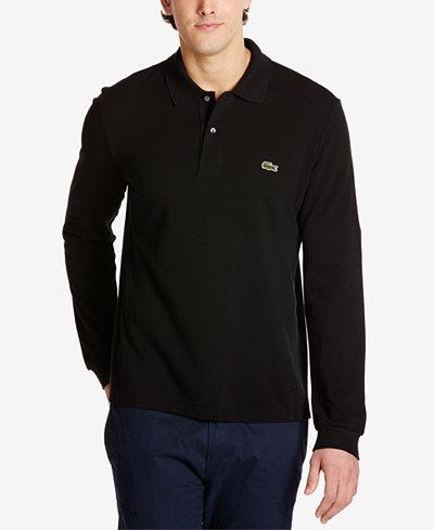Lacoste Men's Long Sleeve Pique Polo - Polos - Men - Macy's