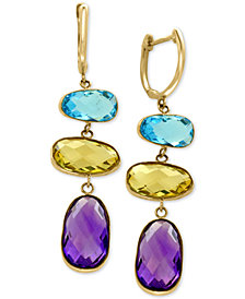 EFFY® Multi-Gemstone Drop Earrings (13 ct. t.w.) in 14k Gold