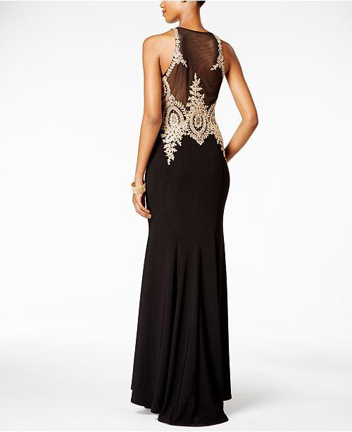 Xscape Floral Lace Mermaid Gown Dresses Women Macys