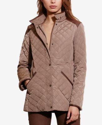 Lauren Ralph Lauren Plus Size Quilted Jacket, Only at Macy's