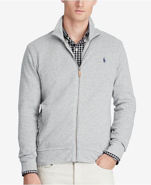 9f9e1f344f6 Polo Ralph Lauren Men s Full-Zip Jacket   Reviews - Sweaters - Men ...