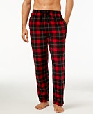 Perry Ellis Mens Plaid Fleece Pajama Pants