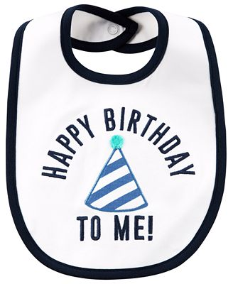 Carter's Happy Birthday Cotton Bib, Baby Boys