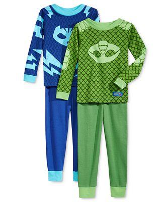 AME 4-Pc. PJ Masks Catboy & Gekko Pajama Set, Toddler Boys (2T-4T)