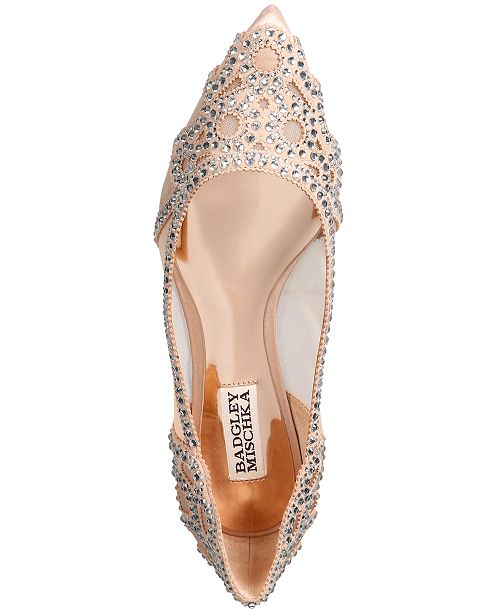 b69fc7c60e91 Badgley Mischka Gigi Pointed-Toe Evening Flats & Reviews - Flats ...