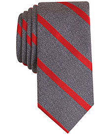Bar III Men's Acker Stripe Skinny Tie, Created for Macy's