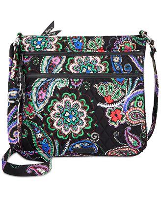 Vera Bradley Keep Charged Triple Zip Hipster Crossbody