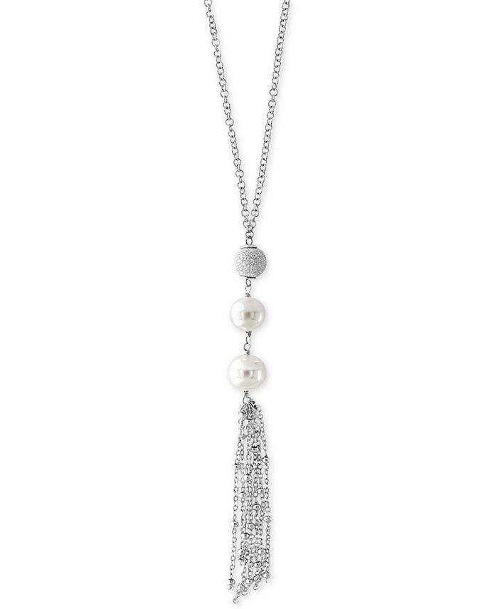 EFFY Collection - Freshwater Pearl (9mm) Tassel Drop Earrings in Sterling Silver