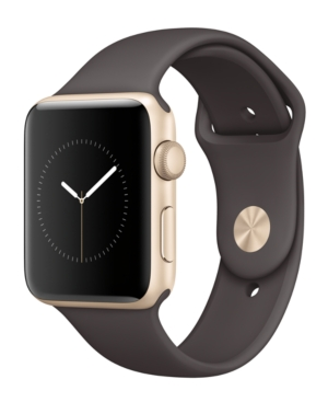 Apple Watch Series 2 42mm Gold-Tone Aluminum Case with Cocoa Sport Band