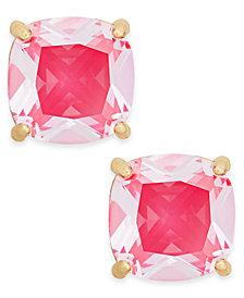 kate spade new york Gold-Tone Aqua Crystal Stud Earrings