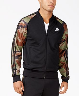 adidas men 39 s originals superstar camo track jacket coats jackets men macy 39 s. Black Bedroom Furniture Sets. Home Design Ideas