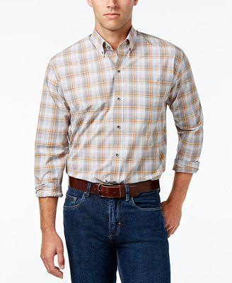 Cutter & Buck Men's Starboard Classic-Fit Plaid Poplin Shirt