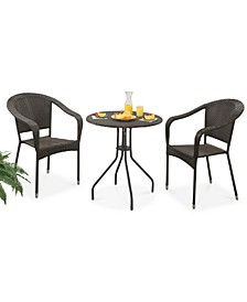 Rita Outdoor 3-Pc. Bistro Set, Quick Ship