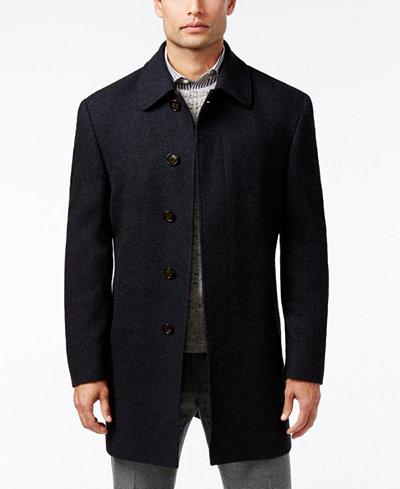 Lauren Ralph Lauren Jake Herringbone Wool-Blend Overcoat - Coats ...