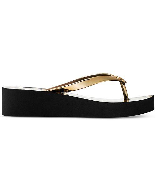 57278b4a96b Michael Kors Bedford Shiny Platform Flip-Flops   Reviews - Sandals ...