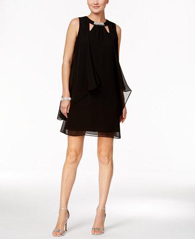 Sl Fashions Layered Shift Dress
