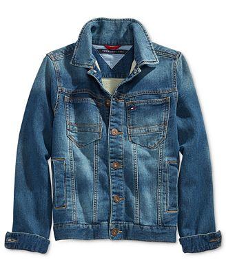 tommy hilfiger denim jacket big boys 8 20 coats. Black Bedroom Furniture Sets. Home Design Ideas
