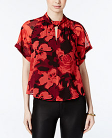 RACHEL Rachel Roy Printed Chiffon Top, Created for Macy's