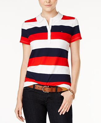 Tommy Hilfiger Striped Polo Shirt, Created for Macy's ...