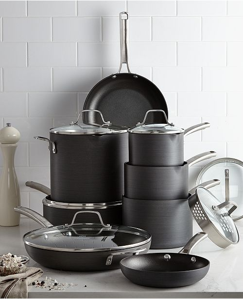 2528dfb1b9a Calphalon Classic Nonstick 14-Pc. Cookware Set   Reviews - Cookware ...