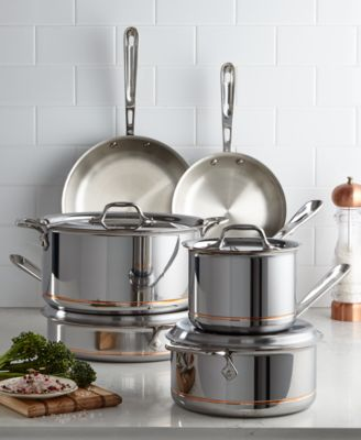 AllClad Copper Core 10Pc Cookware Set Cookware Cookware Sets