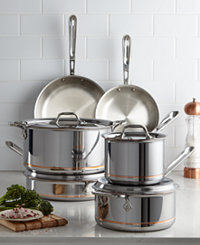 All-Clad 600822 SS Copper Core 10-Piece Cookware Set + All-Clad Lasagna Pan + Oven Mitts