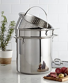 Stainless Steel 12 Qt. Covered Multi Pot with Pasta & Steamer Inserts
