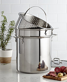 All-Clad Stainless Steel 12 Qt. Covered Multi Pot with Pasta & Steamer Inserts