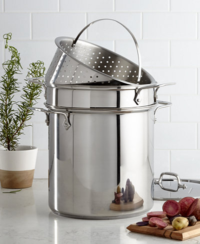 All Clad Stainless Steel 12 Qt Covered Multi Pot With