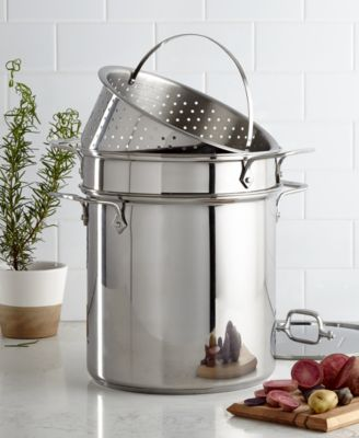 Delicieux All Clad Stainless Steel 12 Qt. Covered Multi Pot With Pasta U0026 Steamer  Inserts