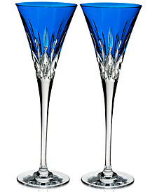Waterford Lismore Pops Toasting Flutes, Set Of 2