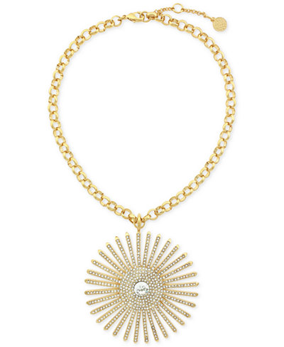 Vince Camuto Gold-Tone Sunburst Pendant Necklace