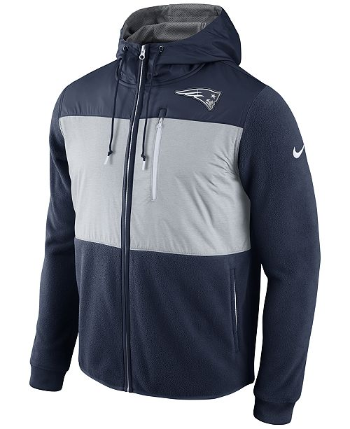 check out d9cf3 8ecab Nike Men's New England Patriots Champ Drive Full Zip Hoodie ...