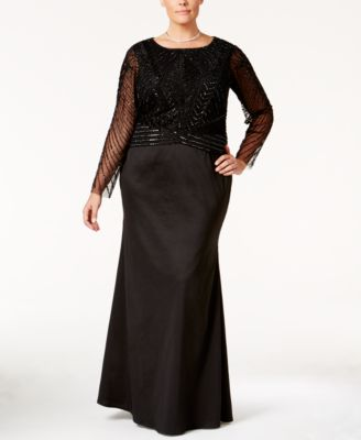 Adrianna Papell Plus Size 2-Pc. Embellished Gown
