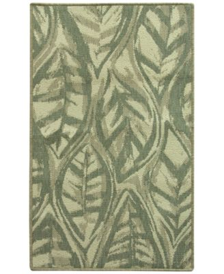 "Leaf Sketch Blue 28.3"" x 46.0"" Accent Rug"