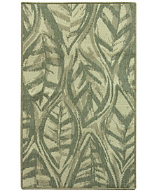 Bacova Leaf Sketch Blue Accent Rugs