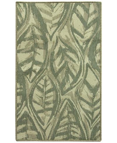 Bacova Leaf Sketch Blue Accent Rugs