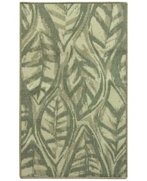 Bacova Leaf Sketch Blue 283 x 460 Accent Rug Bedding