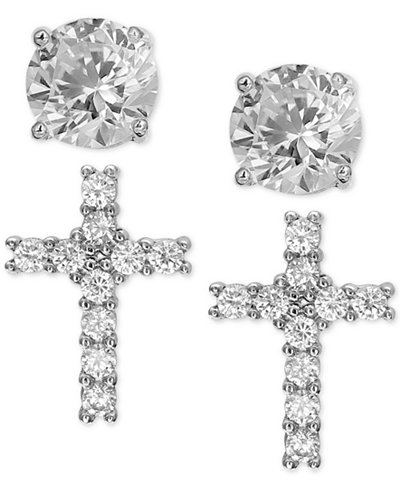 Giani Bernini 2 Pc Set Cubic Zirconia Cross And Round