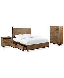Gatlin Storage Queen Platform Bedroom Furniture, 3-Pc. Set (Queen Bed, Chest & Nightstand), Created for Macy's
