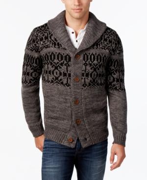 Men's Vintage Style Sweaters – 1920s to 1960s Weatherproof Vintage Mens Fair Isle Cardigan $66.99 AT vintagedancer.com