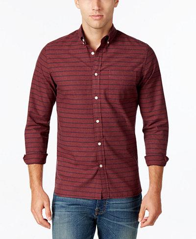 Tommy hilfiger men 39 s marvin striped shirt casual button for Tommy hilfiger fitzgerald striped shirt